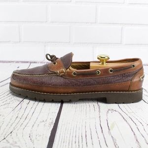 LL Bean Allagash Bison Leather Loafers Size 10.5